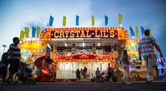 One of Thomas Carnival's signature attractions is Crystal Lil's Hall of Mirrors. Courtesy of Austin Smith.