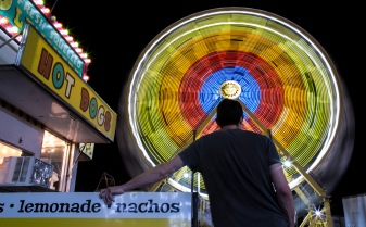 The Ferris Wheel at Thomas Carnival is a sight to behold for its patrons. Courtesy of Austin Smith.